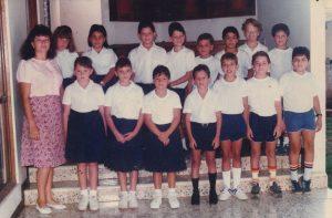 El grupo de 3er grado en 1988, el año que se inauguró la escuela