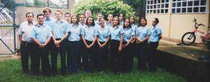 El grupo de undécimo nivel del año 2001.