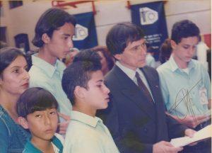 En 1996 asistimos por primera vez a una Feria Científica Nacional, en el Museo de los Niños, en esa ocasión el estudiante Esteban Emilio Fallas recibió un premio de Franklin Chang Díaz por su proyecto científico.