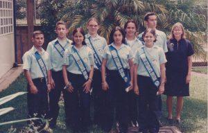 Gobierno Estudiantil del Colegio Del Valle en 1999