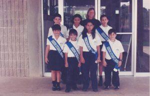 Los miembros del gobierno estudiantil del año 1999