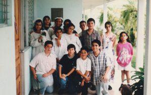 Foto tomada durante la filmación de la película en el año 1997.